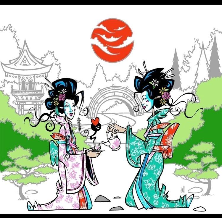 Japanese Garden Tea Party. supe - spzero76 | ello