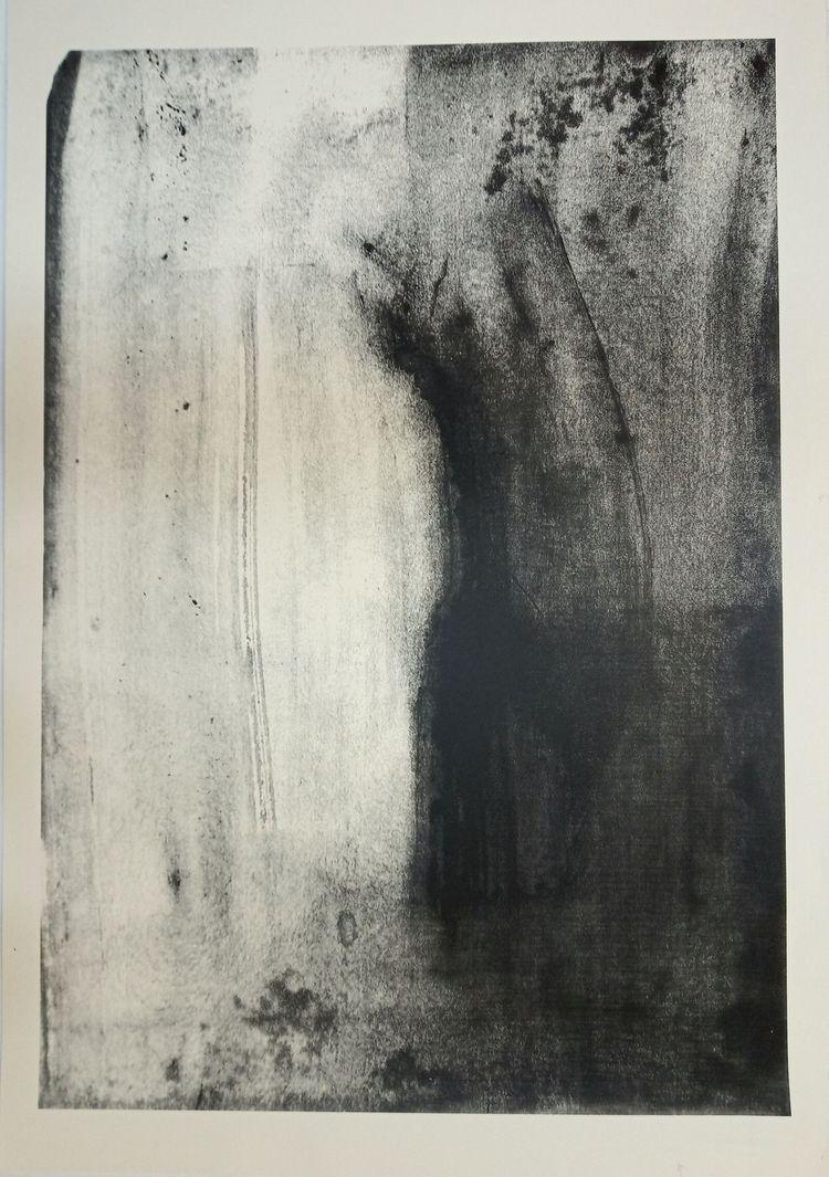 silkscreen, 60 cm 90 cm, 2019 - ghost - aleksandrawiechowska | ello