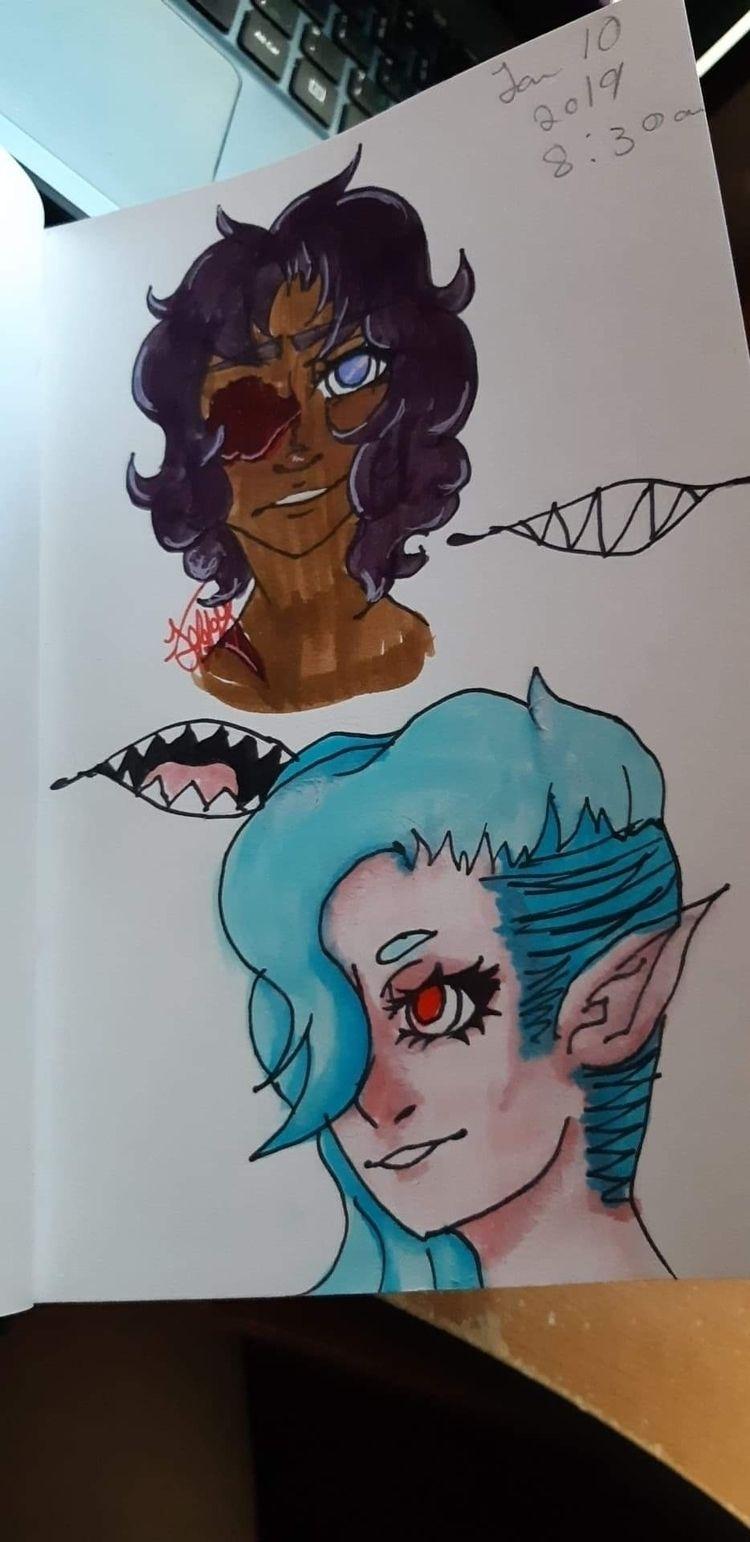 Classroom Doodles - vampire, girls - jeffys-art | ello
