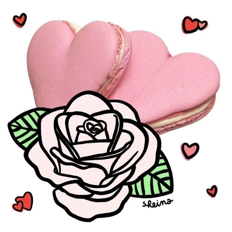 Delicious heart macaron Pierre  - sheina-illustration | ello