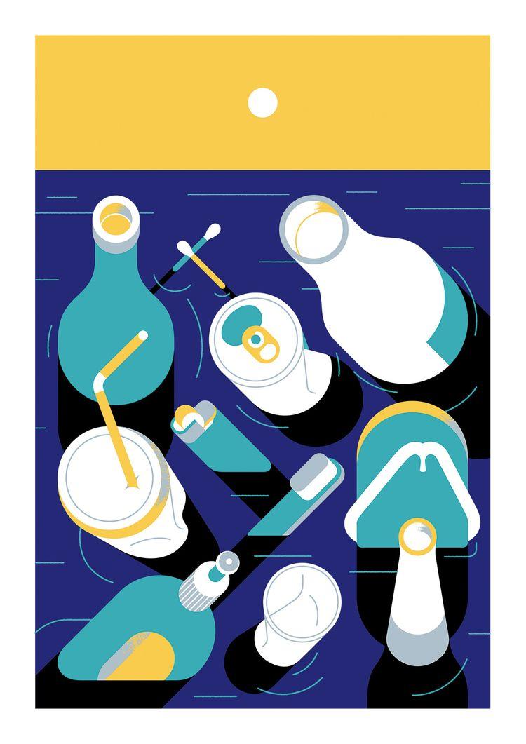 Marine life - illustration, artwork - alconic | ello