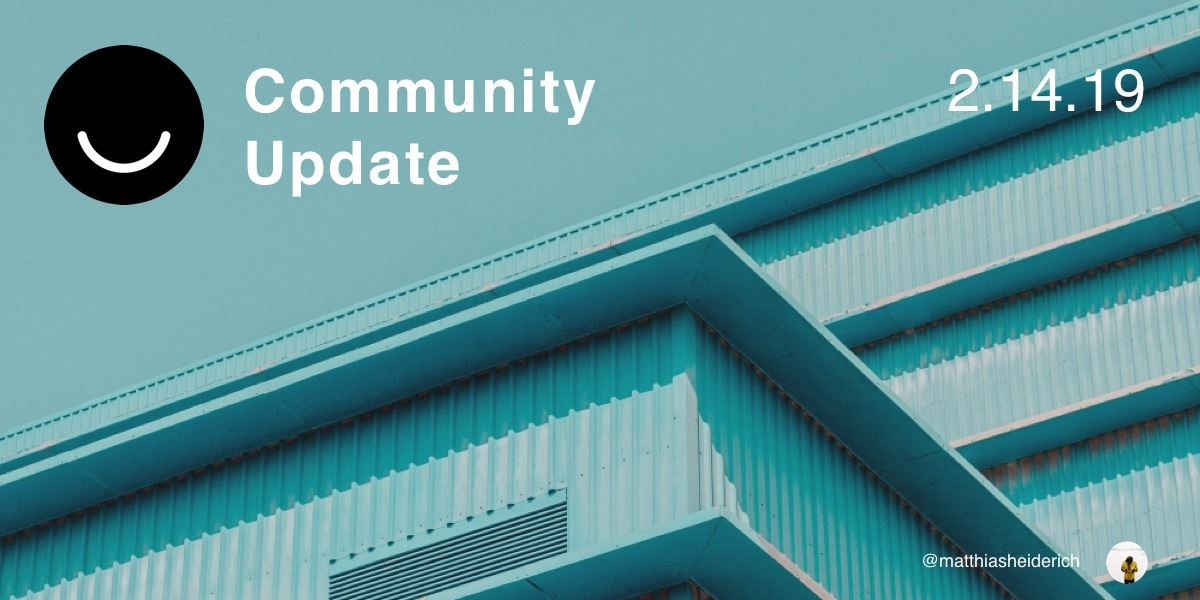 Community Update 2/14/2019 Good - elloblog | ello
