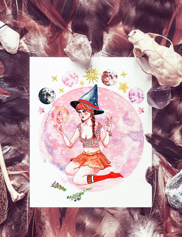 Lunar witch - wicca, pagan, witchaethetic - nekotangerine | ello
