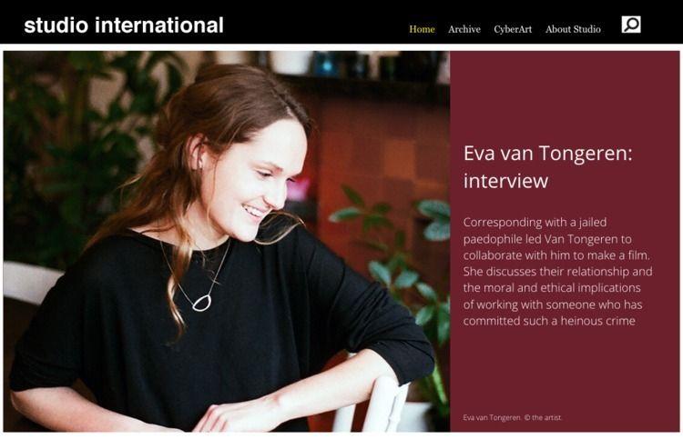 Eva van Tongeren interview: Tho - studiointernational | ello