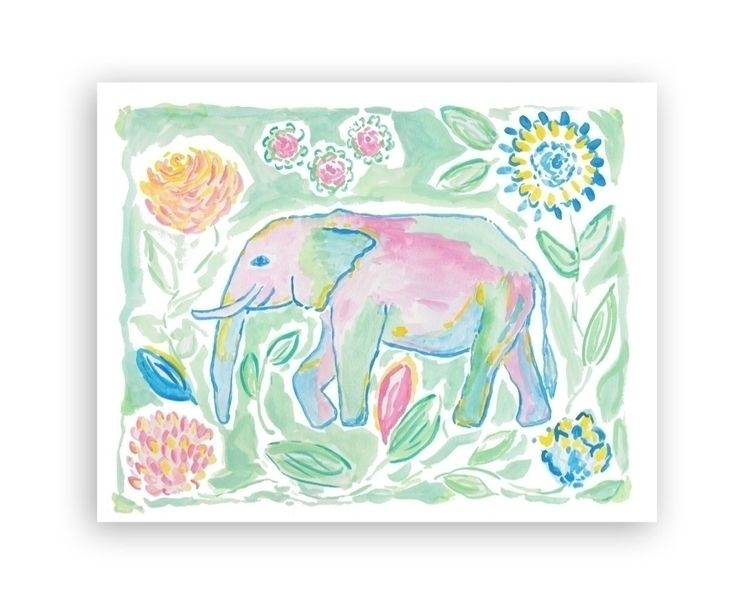 Colorful Elephant art print bri - digalinda | ello
