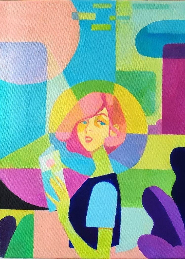 Tourist Oil paint canvas 91x65c - joysuke | ello