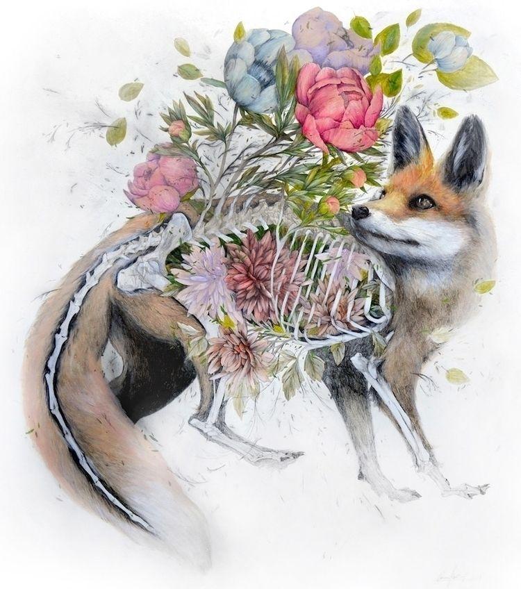 Çiçek Açan Hayvanlar - painting - bigumigu | ello
