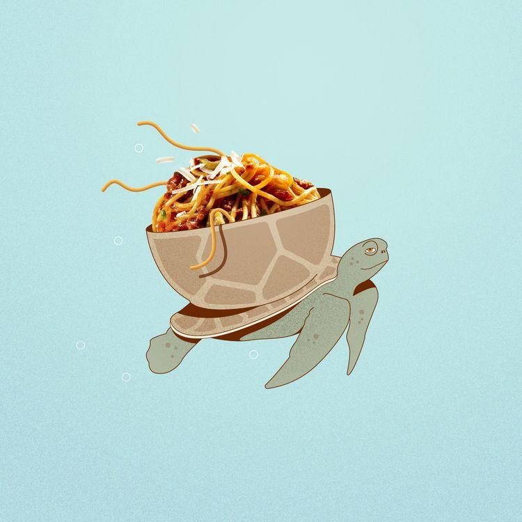 Pasta turtle - pasta, food, spaghetti - jessienewhouse | ello