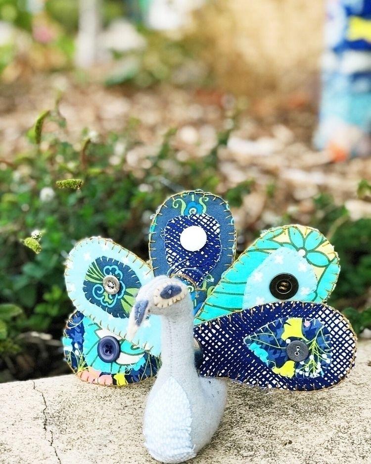 Gorgeous peacock beautifully ha - thepatchworkpear   ello