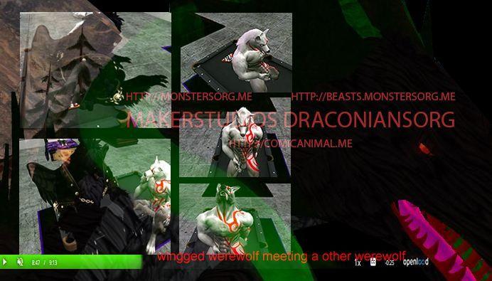 animation click wingged werewol - vuthardarastrix | ello