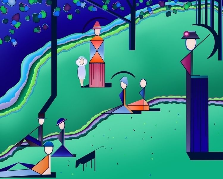 Sunday Park Variation Digital P - czerednikow | ello