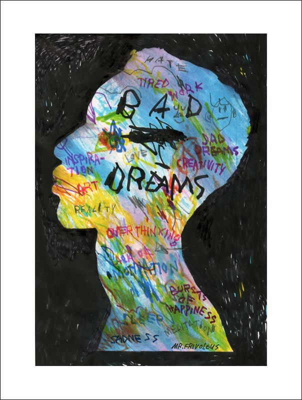 BAD DREAMS Giclee print 308 gsm - mrfrivolous | ello