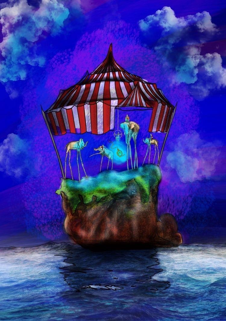Circus Island Illustration base - verzin98   ello