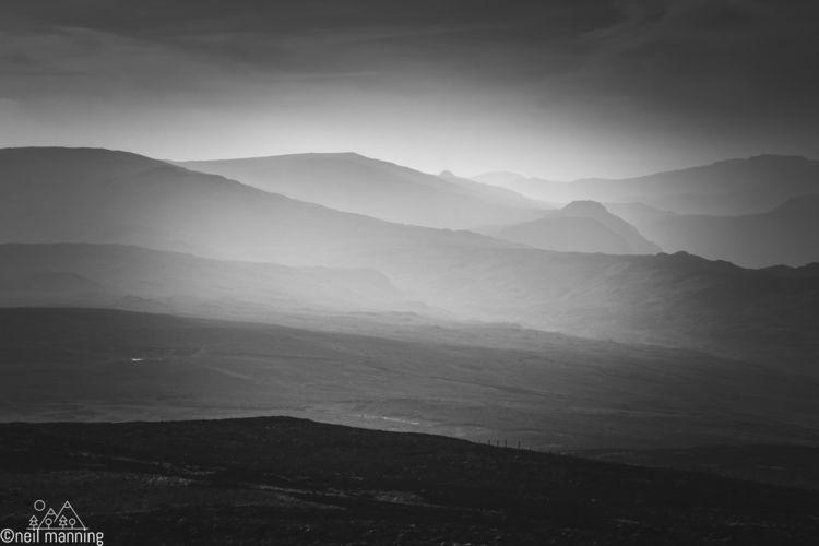 High fells misty morning, Lake  - the-wooks | ello