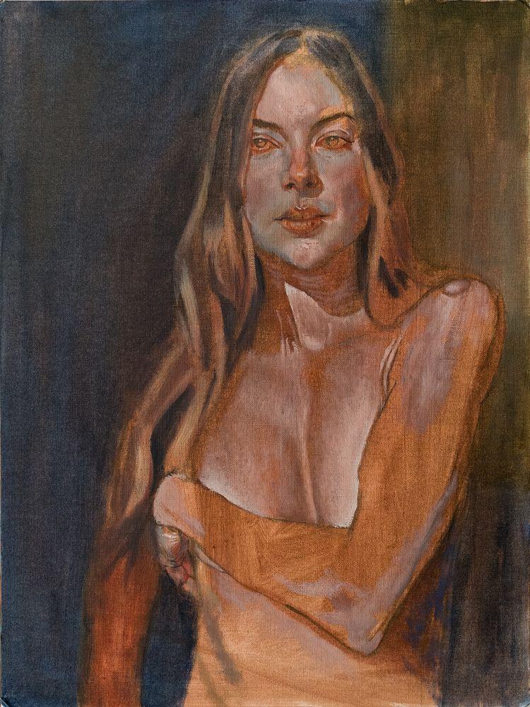 oil canvas paper 16x12 - art, kunst - nannerlsbrother | ello