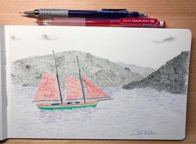 'Sailing' (2019) Sailing island - leapingbluehare | ello