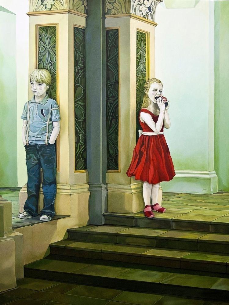 Happy Day painting Love' part c - jolenelaiart | ello