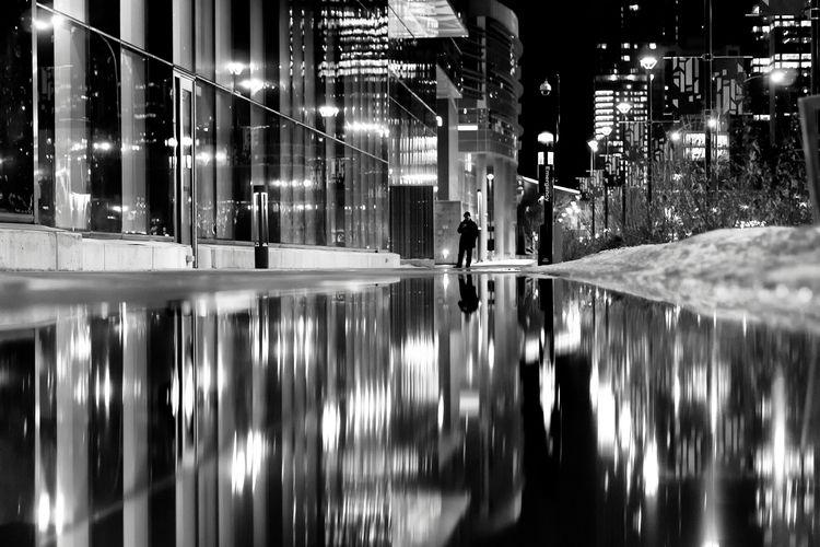 Reflected night city Edmonton,  - george_s_photo | ello