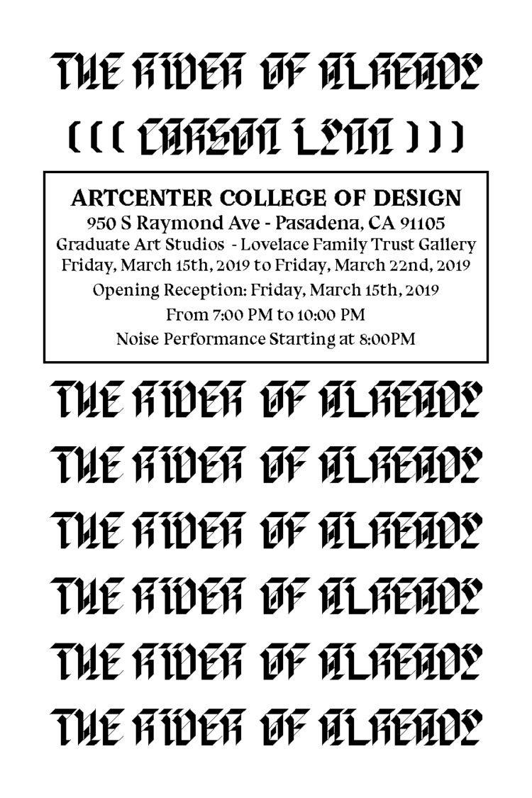 RIVER - 3/15-3/22 ArtCenter Gra - carsonlynn | ello