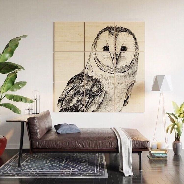 Barn Owl Drawing, Society6 prod - sean-fleming | ello