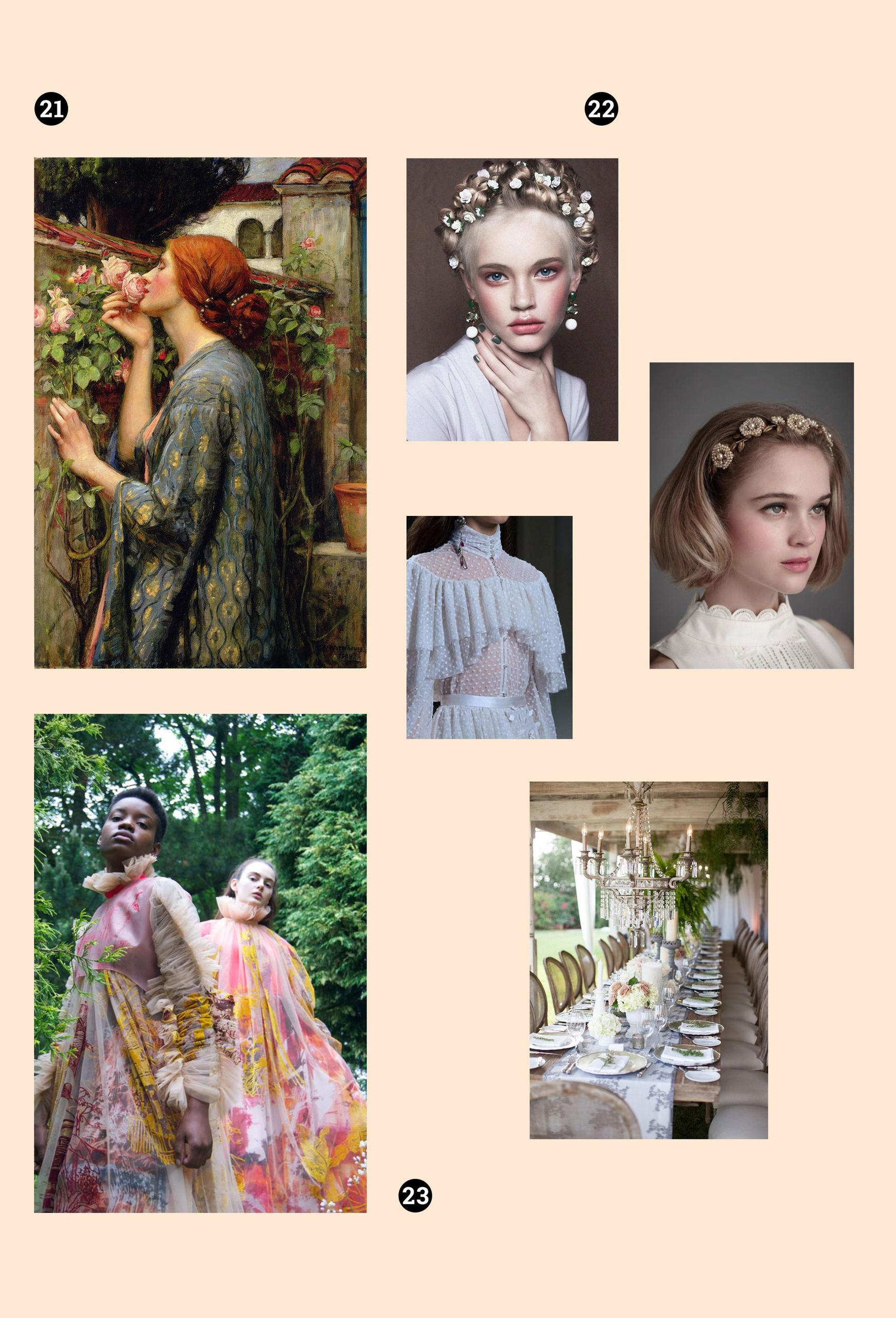 Obraz przedstawia sześć fotografii na jasnym tle. Zdjęcia przedstawiają kobiece sylwetki i portrety.