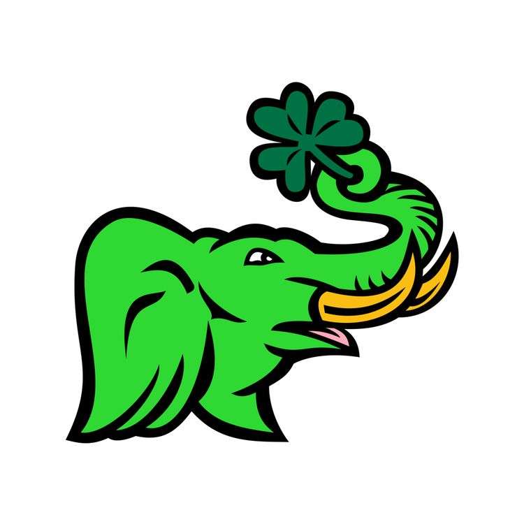 Green Elephant Shamrock Icon - GreenElephant - patrimonio | ello