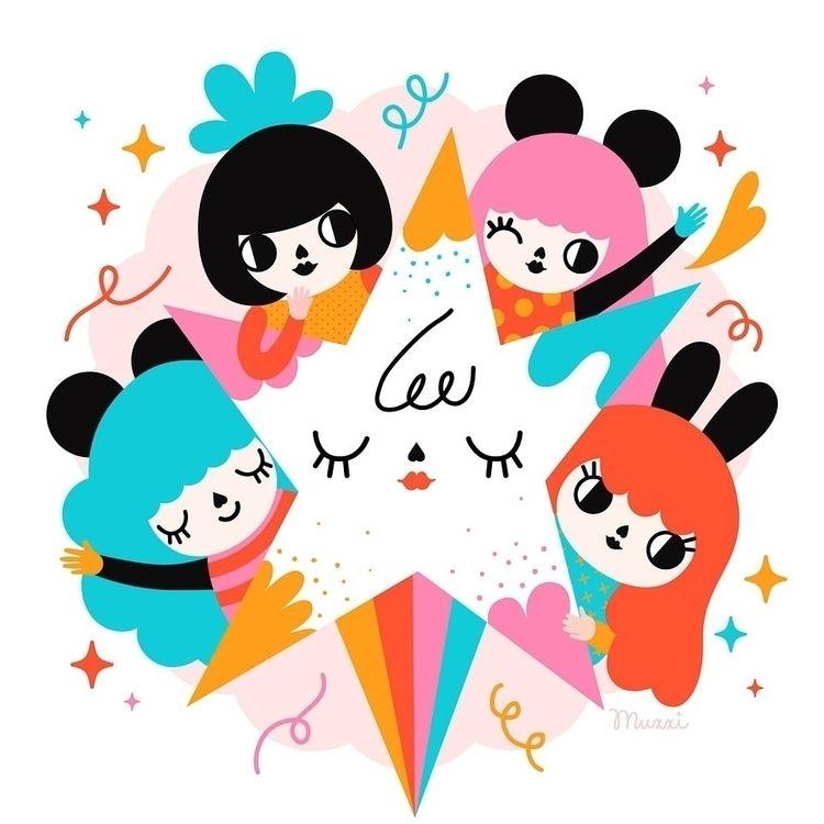 Happy International day - illustration - muxxi | ello