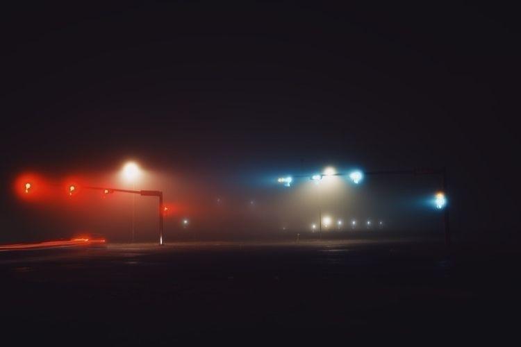 Traffic glow - fog, foggy, longexposure - benraigoza | ello