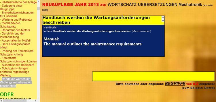 German-english sentence transla - mechatronik-lehrmittel-wagner | ello