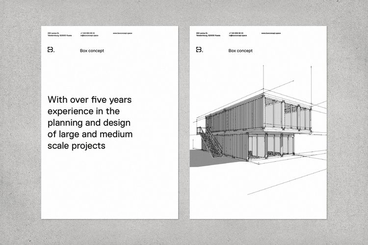 Visual identity architectural c - egorkevraletin | ello