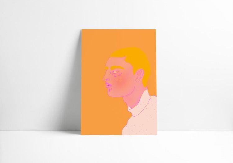 Orange Boy print Print options - thedutchspork | ello