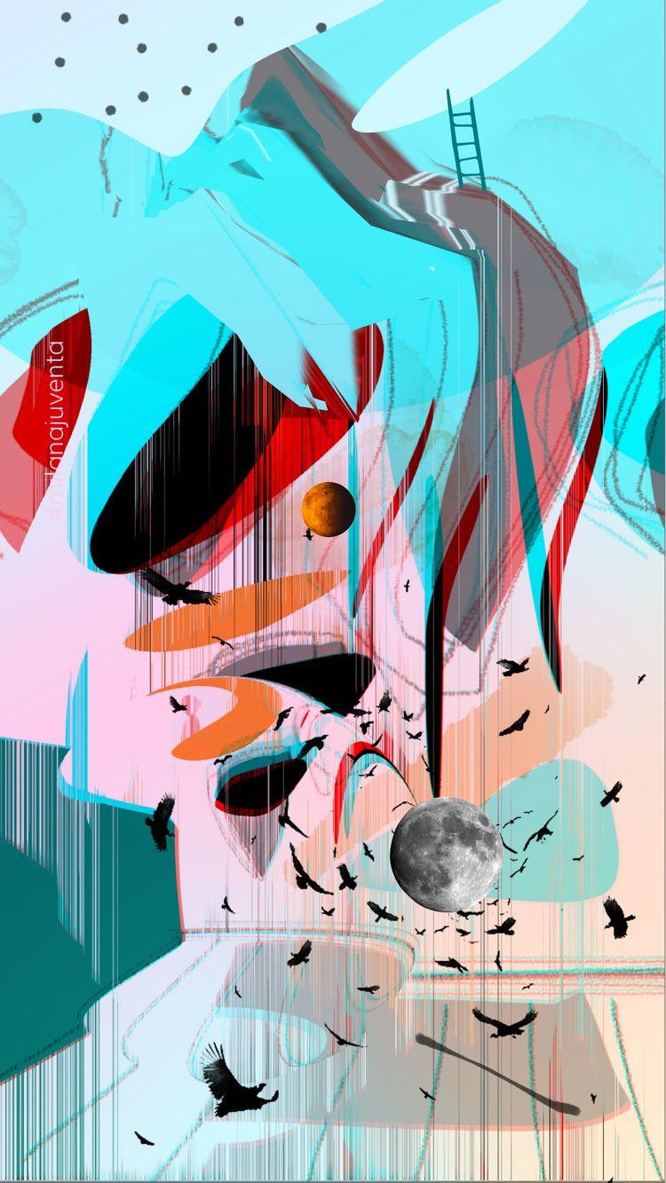 AbstractGlitchePunk digatal art - milanajuventa | ello