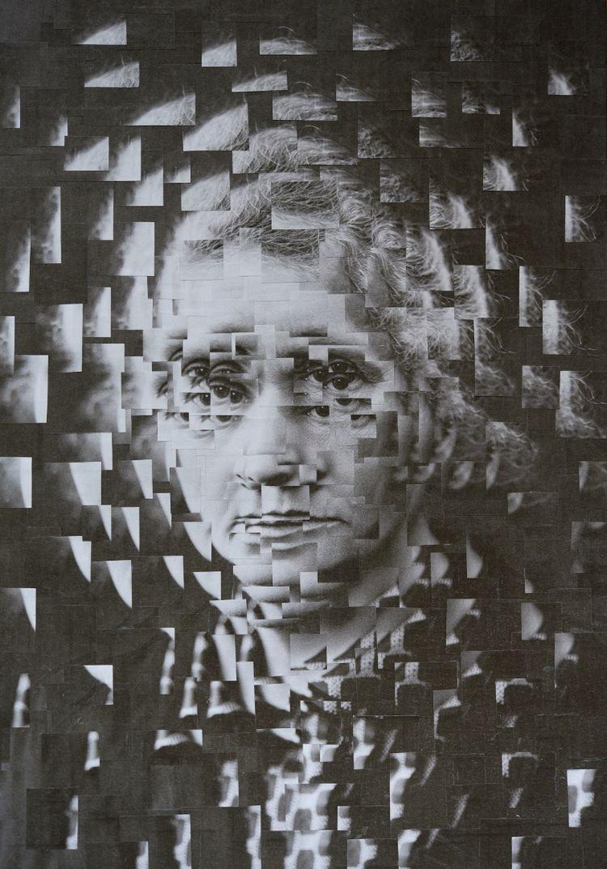 Marie Curie, 8.2 11.6 inches - collage - loladupre | ello