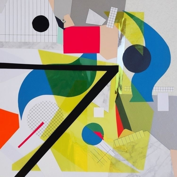 Handmade collage 38x38 cm serie - sanja_d | ello