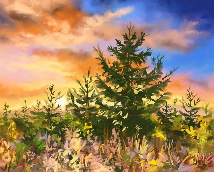 ~ Evening Daily digital paintin - mikkotyllinen | ello