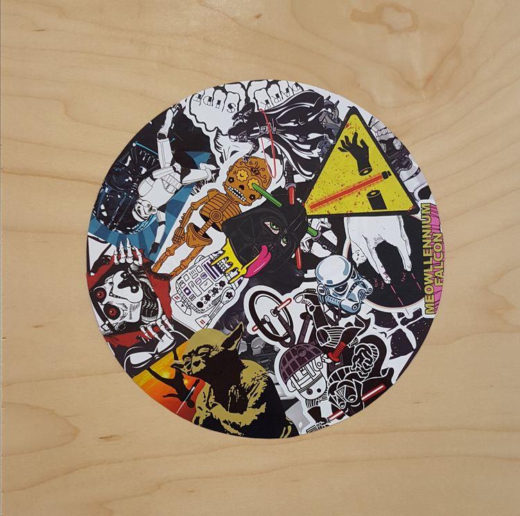 Nope - 12 2 vinyl stickers wood - markbueno | ello