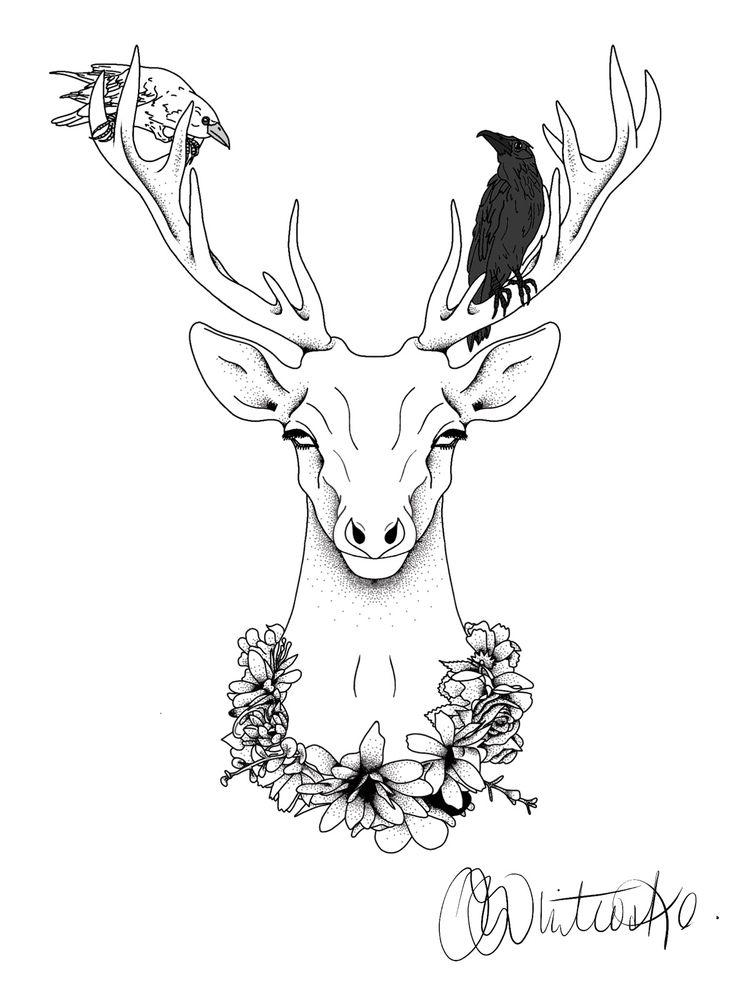Huginn Muninn antlers Cernunnos - itsjoccoaa | ello