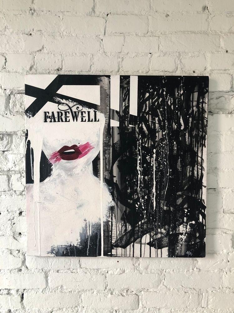 Farewell Acrylic, aerosol, blea - zoewatsonart | ello