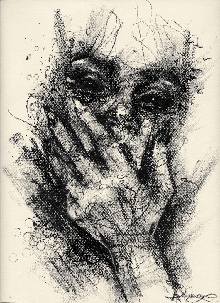 Eyes - drawing, art, blackandwhite - ibreathart | ello