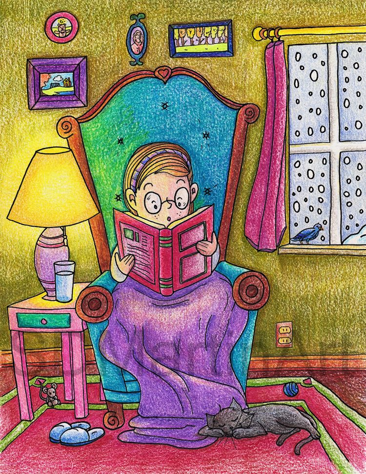 Finished coloring bookworm toda - sabrinam | ello