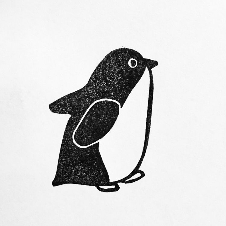 Penguin running friends - print - studiomalu | ello