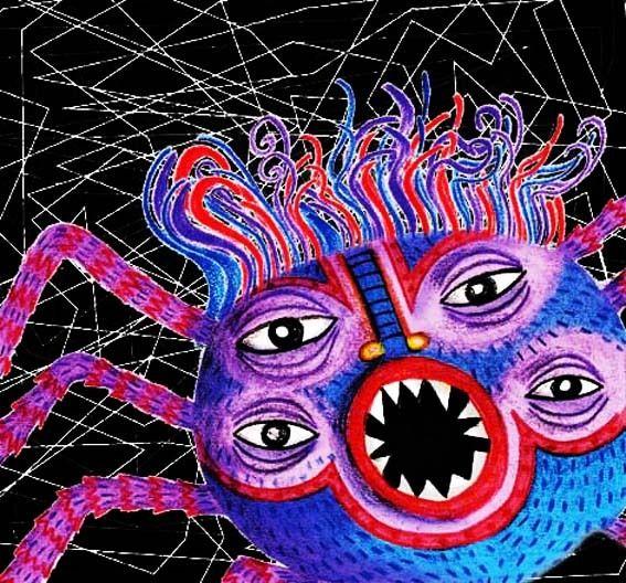 Monster spider - fobias, illustration - maracarvajal   ello
