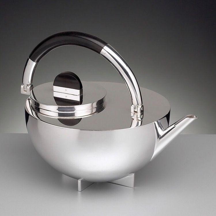 tea pot designed 1924 part set - bauhaus-movement | ello