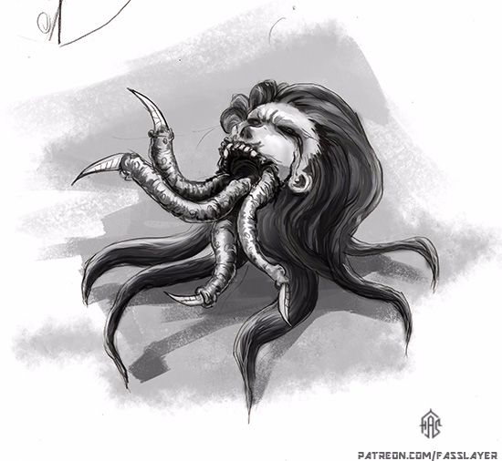 monster drawing. 19-3-23 - digitalart - fasslayer   ello