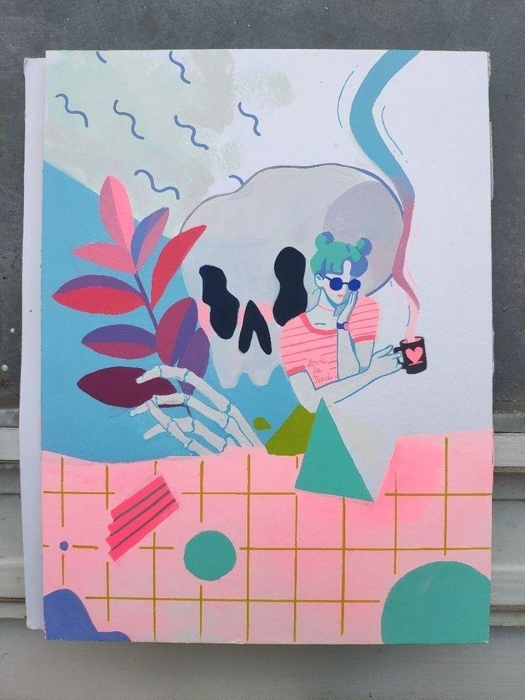 Love Dead Acrylic paper 24x32cm - joysuke | ello