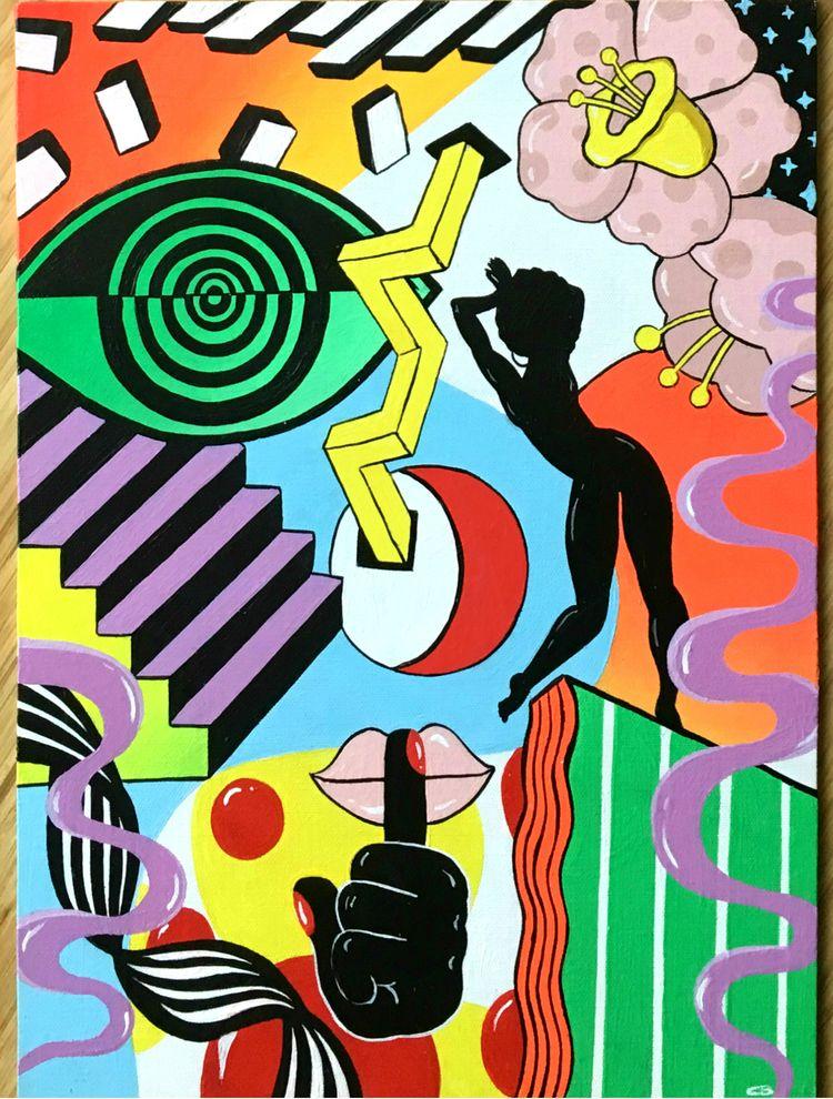 12x14 Acrylic canvas board. Pai - thequeencity | ello