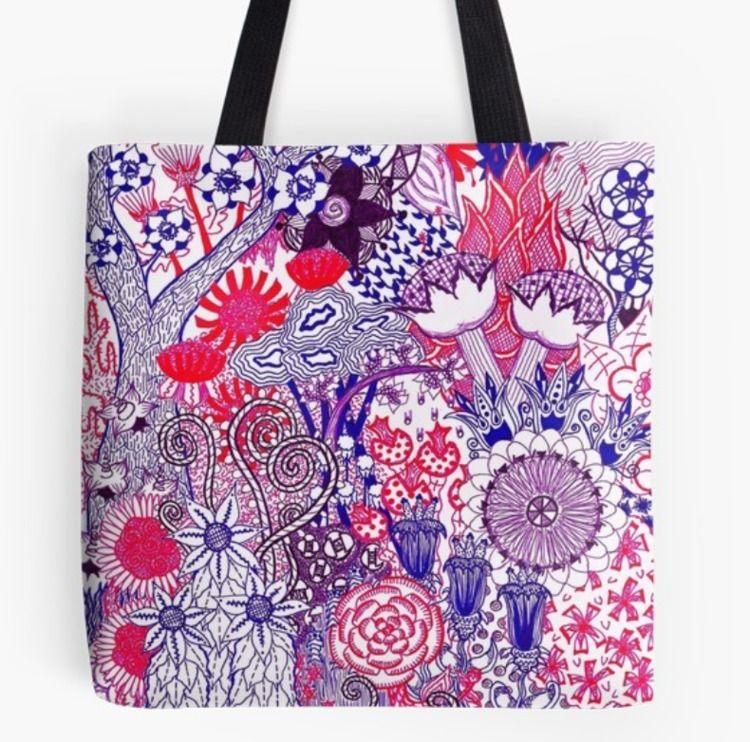 """Floral Jungle Purple"" Redbubbl - okhismakingart | ello"