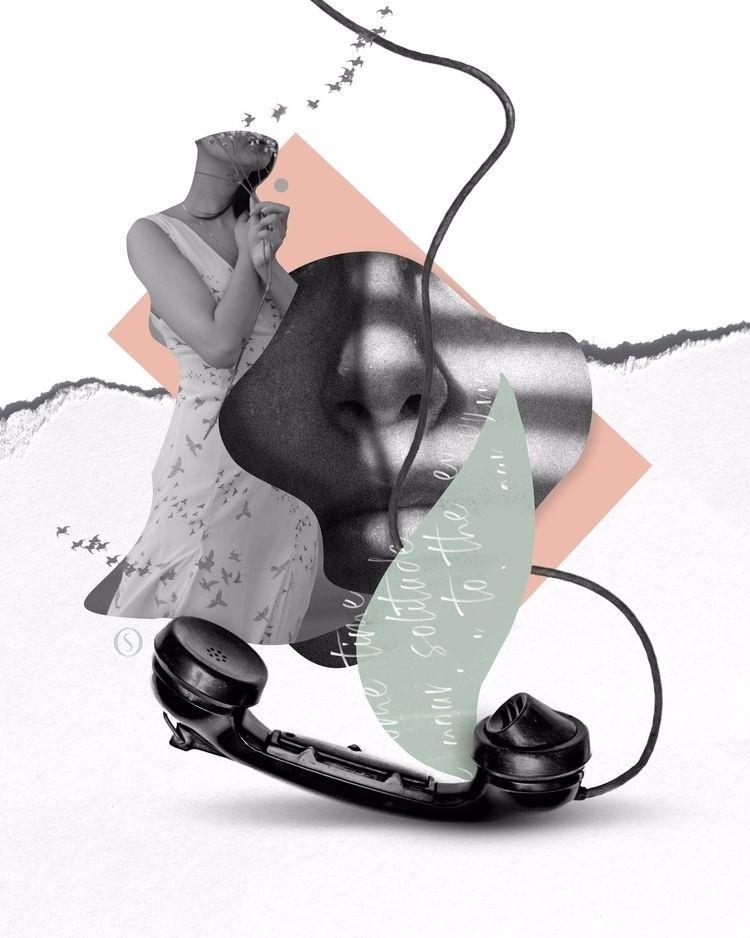 Collage inspired song Call Marl - olaszatk   ello