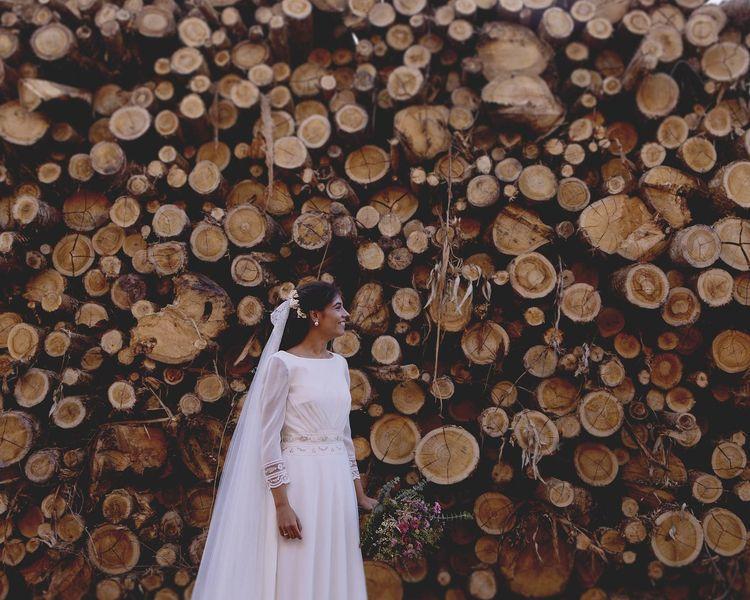 María, preciosa, en su boda Rib - txumintxu | ello