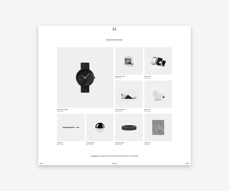 Today launched shop! Faster, cl - minimalissimo | ello